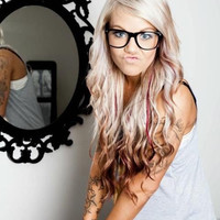 PENNY PLATINUM / burgundy copper burgundy ombre BLONDE hair / 18 inch long/ dip dye/  human hair extensions/ clip-in hair wefts