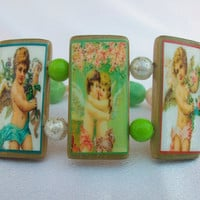 Angels Cherubs Cupids Bamboo Tile Colorful by thebagladyboutique1