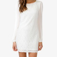 Sheer Sleeve Lace Dress | FOREVER 21 - 2019452126