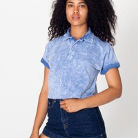 American Apparel - Crop Piqué Tennis Shirt