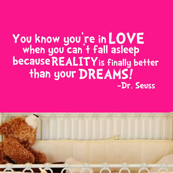 Dr Seuss You know youre in love Quote from Stickitthere on Etsy