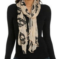 Skull Finished Edge Scarf | Shop Accessories at Wet Seal