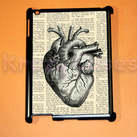 iPad 2 case, iPad 3 case, Anatomy Heart iPad 2 cover for your ipad 2, iPad 3 Cover, Snap on Hard Plastic Case