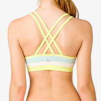 Medium Impact- Striped Sports Bra