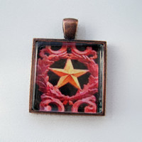 Pendant Star 1x1 necklace wearable art by twistedpixelstudio