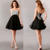 Short Sweetheart Wedding Bridesmaid Evening Party Prom Cocktail Homecoming Dress