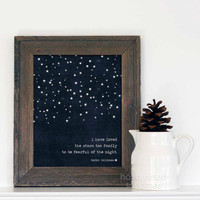 Digital Art Print I Have Loved the Stars Too by hairbrainedschemes