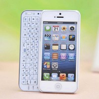 Sliding Bluetooth Wireless Keyboard Case Cover for Iphone4/4s