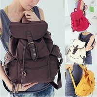 Korean Style Leisure Canvas Backpack