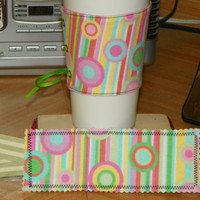 Bright Fun Circles and Stripes Colorful Coffee by NorthwoodsWhimsy