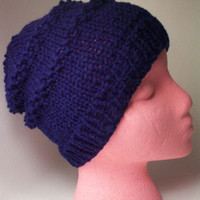 Men Hat Slouchy Beanie in Navy Fashion Outwear by toppytoppy