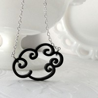 Rain Cloud Necklace by Isette on Etsy