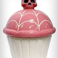 Pink Skullcakes Cookie Jar | PLASTICLAND