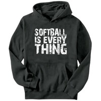Softball Is Everything Hobbies Mens Hoodie (Dark Silver, Sizes X-Small - XXX-Large)