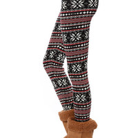 Papaya Clothing Online :: FAIR ISLE PATTERN KNIT LEGGINGS