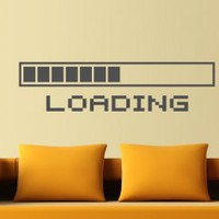 Loading Bar Wall Decal Decor for Nerds - Geeky Decoration - Wall Decals | My Wall Decal Shop | Decorating Ideas &amp; Wall Stickers
