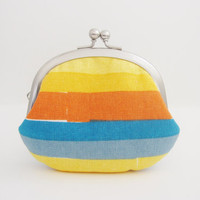 Frame Coin Purse- rainbow stripe