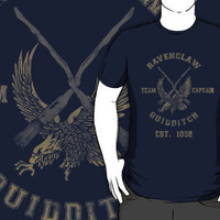 &quot;Ravenclaw Quidditch Athletic Tee Harry Potter Shirt&quot; | RedBubble