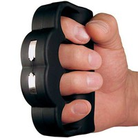 KNUCKLE BLASTER is a 950,000 Volt stun gun with batteries and a magnetic leather holster
