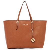 MICHAEL Michael Kors  Jet Set Travel Logo Medium Travel Tote, Luggage - Michael Kors