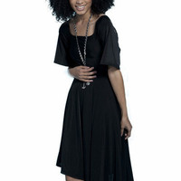 Ren Arnez - Gypsy  Sleeve Little Black Dress
