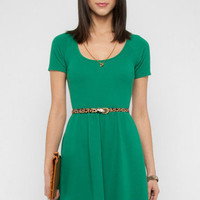 Back Again Dress in Green :: tobi