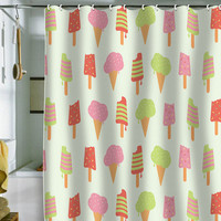 Nicole Martinez Ice Cream Shower Curtain