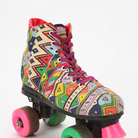 Vintage 80s Party Print Roller Skate