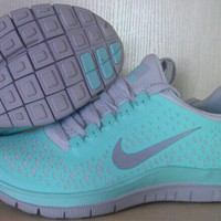 Nike free tropical twist tiff blue