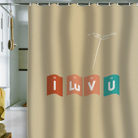 "Nicole Martinez ""We've Got Chemistry"" Shower Curtain"