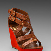 DV by Dolce Vita Telsa Wedge Sandal in Cognac from REVOLVEclothing.com
