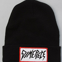 The Dimepiece Collection Beanie in Black w/ Red Outline