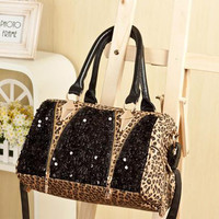 Sexy Leopard Shiny Handbag Shoulder Bag