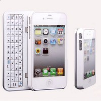 Cool New Sliding Bluetooth Wireless Keyboard Case For Iphone 4/4s