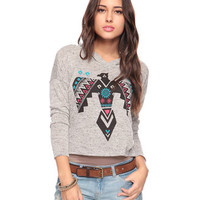 Geometric Bird Top w/ Hood | FOREVER 21 - 2002930348
