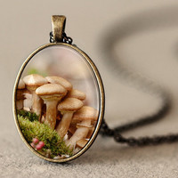 Mushroom Pendant Mushroom Jewelry Mushroom by NatureMandalas