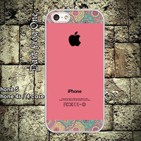 indian Pattern on Pink iPhone 5 case, iPhone 4s / 4 case hard plastic or silicon rubber