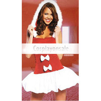 Sexy Red Strapless Christmas Dress [TSY111116014] - $17.99 : Cosplay, Cosplay Costumes, Lolita Dress, Sweet Lolita