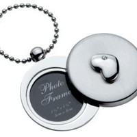 Visol Stainless Steel Circular Photo Holder - Heart Pendant