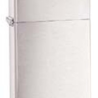 Zippo Slim Brushed Chrome Lighter - Free Engraving