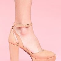 Perfect Platform - Nude Leather in Shoes at Nasty Gal