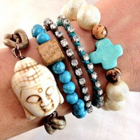 Turquoise and Caicos Wrist Party