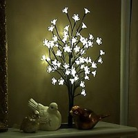 17.7 Cherry Blossom Bonsai Tree with 60 LED Lights  QVC.com