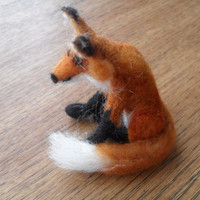 Needle felt fox shipping included by Crystalcat1989 on Etsy