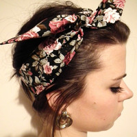 VINTAGE Style 50&#x27;s Floral Head Scarf