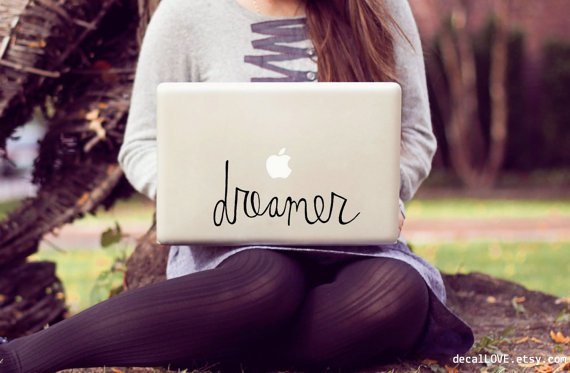 large dreamer laptop decal by decalLOVE on Etsy