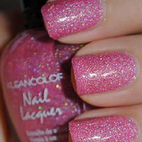 1 New Kleancolor ♥ HOLO PINK ♥ GLITTER Nail Polish Art Varnish Color