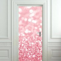 "Amazon.com: GIANT Door STICKER bling glitter rose shimmer sparks poster, mural, decole, film 30x79"" (77x200 Cm): Home & Kitchen"