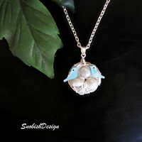 Bird Jewelry  Bird Nest  Egg Nest Birds  Fresh by SnobishDesign
