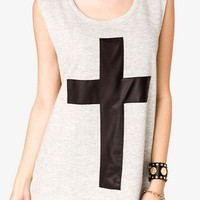 Faux Leather Cross Top | FOREVER 21 - 2038086809